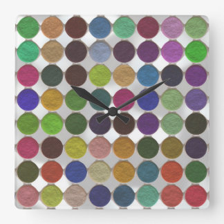 Got Makeup? - Eyeshadow palette Square Wall Clock