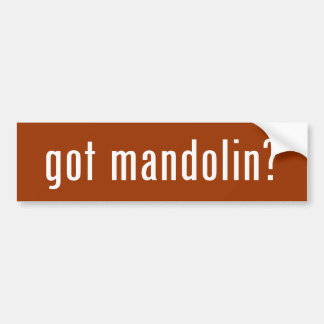 got mandolin? bumper sticker