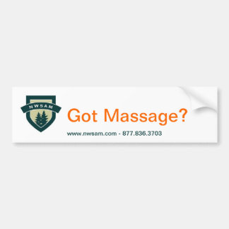Got Massage? Bumper Sticker