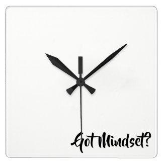 Got Mindset...coaching Square Wall Clock