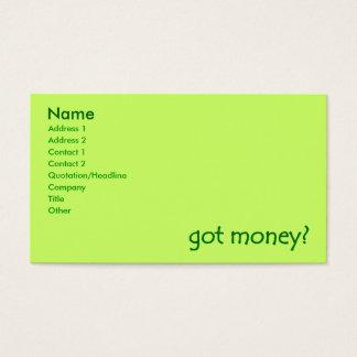 got money? Business Cards