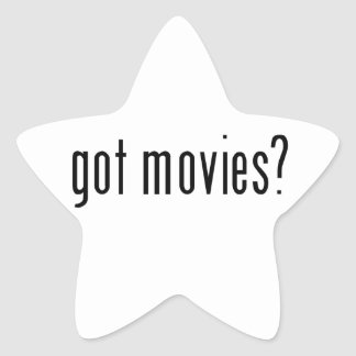 got movies? star sticker