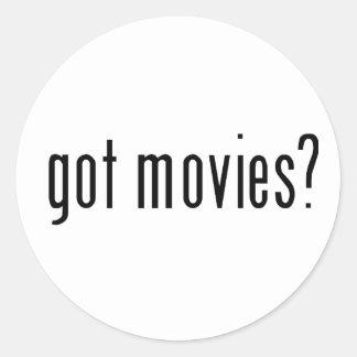 got movies? round sticker