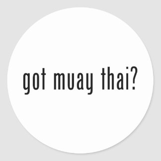 got muay thai? round sticker