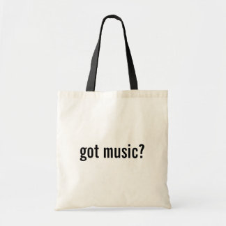 got music? tote bag