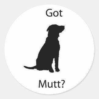 Got Mutt Classic Round Sticker