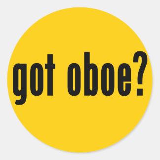 got oboe? classic round sticker