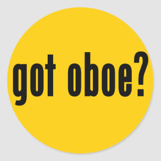 got oboe? round sticker