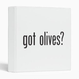 got olives vinyl binder
