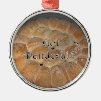 Got Pandesal? Filipino sweet dinner roll Silver-Colored Round Ornament
