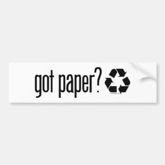 got paper? Recycling Sign Bumper Sticker
