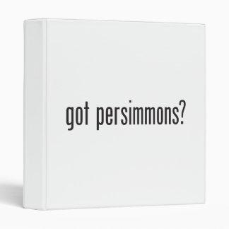 got persimmons vinyl binders