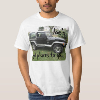 """Got places to go"" Black and Gray Jeep t-shirt"