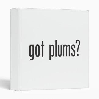 got plums vinyl binder