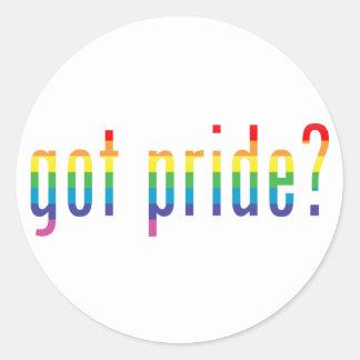 got pride? classic round sticker