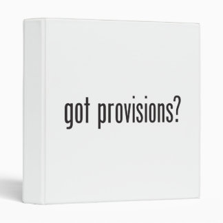 got provisions vinyl binder