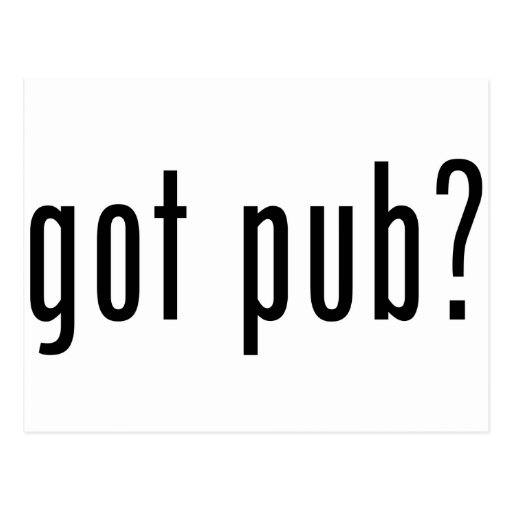 got pub? post cards