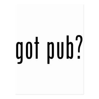 got pub? postcard