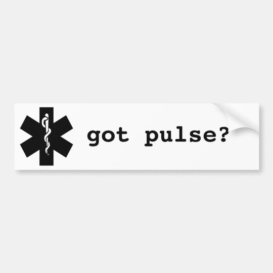got pulse bumper sticker
