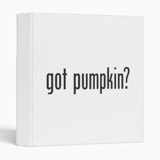 got pumpkin 3 ring binders