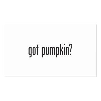 got pumpkin business card templates