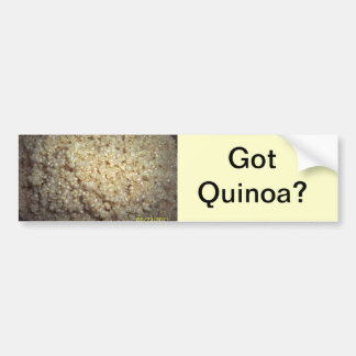 Got Quinoa? Bumper Sticker