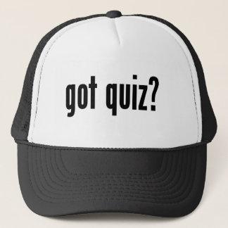 got quiz? trucker hat