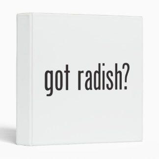 got radish vinyl binder