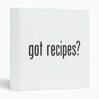 got recipes vinyl binders