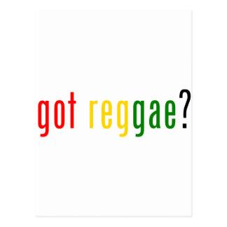 got reggae? postcard