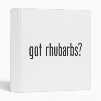 got rhubarbs 3 ring binder