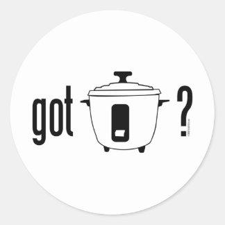 Got Rice? (cooker) Classic Round Sticker