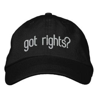 got rights? embroidered hat