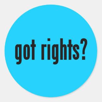 got rights? round sticker