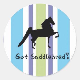 Got Saddlebred? Round Sticker