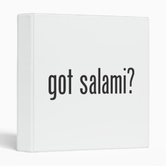 got salami vinyl binders