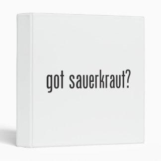 got sauerkraut 3 ring binder