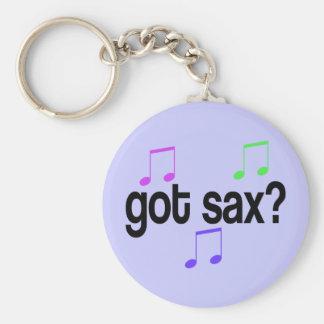 Got Sax Saxophone Gift Basic Round Button Keychain