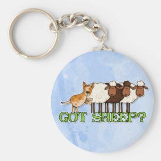 got sheep basic round button keychain