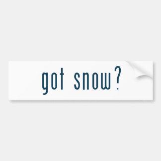 got snow bumper sticker