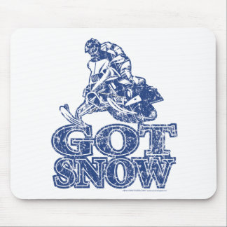 Got-Snow-Distressed-Blue Mouse Pad