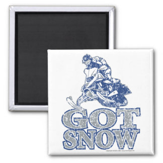 Got-Snow-Distressed-GreyBlu Square Magnet
