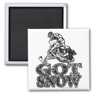 Got-Snow-Distressed Square Magnet
