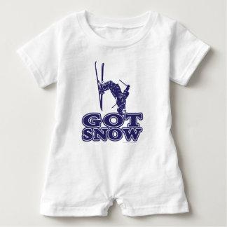 Got Snow Snow Skier Baby Romper