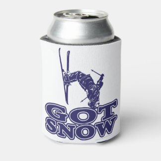 Got Snow Snow Skier Can Cooler