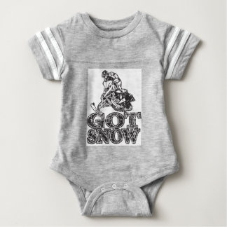 Got Snow Snowmobiler Baby Bodysuit