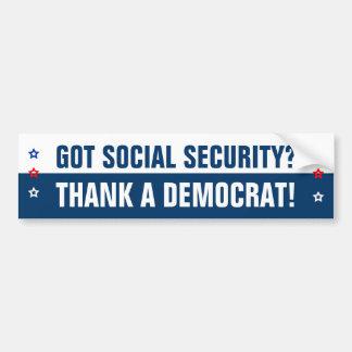 Got Social Security? Bumper Sticker