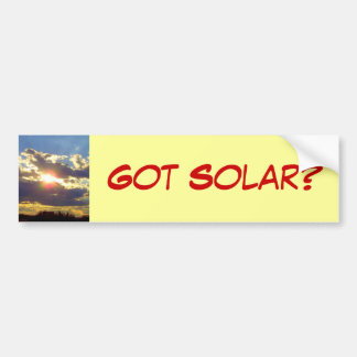 Got Solar Bumper Sticker