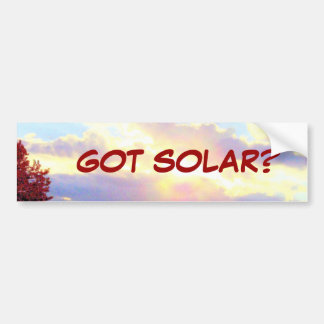 GOT SOLAR? bumpersticker Bumper Sticker