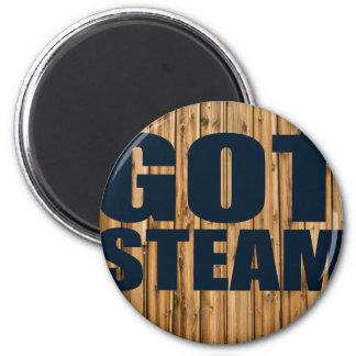 Got Steam Steam Locomotives 2 Inch Round Magnet